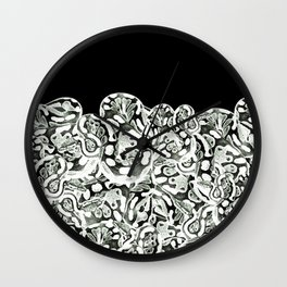 Snake orgy Wall Clock