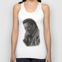 nicolas cage Tank Tops featuring WILD AT HEART - NICOLAS CAGE by William Wong