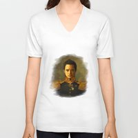 replaceface V-neck T-shirts featuring Elijah Wood - replaceface by replaceface