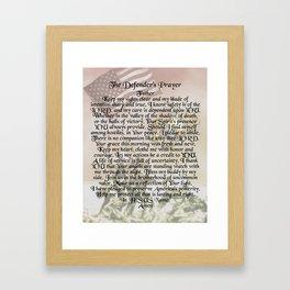 US Marine Corps - Defender's Prayer Framed Art Print