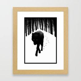 Black wolf Framed Art Print