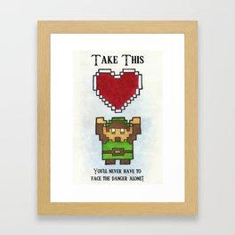 Take My Heart Framed Art Print