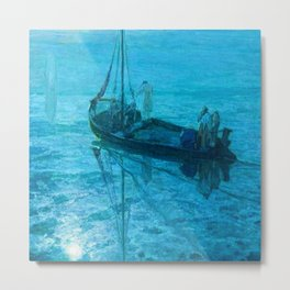 African American Masterpiece 'Disciples See Jesus Walk on Water from Boat' by Henry Ossawa Tanner Metal Print