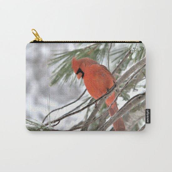 Snow Globe Cardinal Carry-All Pouch