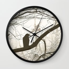 Natural crows Wall Clock