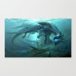 Blue Dragon v2 Canvas Print