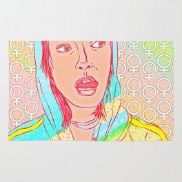 FEM NotShe - Feminist Digital Pride Drawing Pastel Rainbow Rug