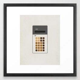 "Vintage Calculator Series: ""Alpha"" Framed Art Print"