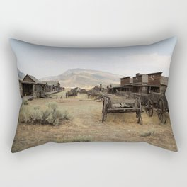 Old Trail Town Rectangular Pillow