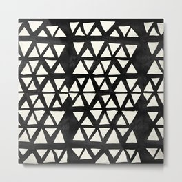 Tribal Geometric Metal Print