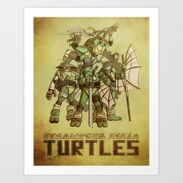 Steampunk Ninja Turtles Art Print