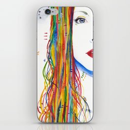 Rainbows and Black birds iPhone Skin