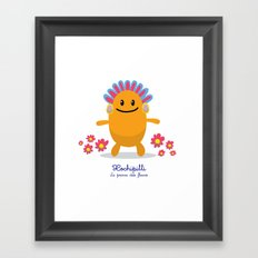 Xochipilli - Le prince des fleurs (Lil Gods) Framed Art Print