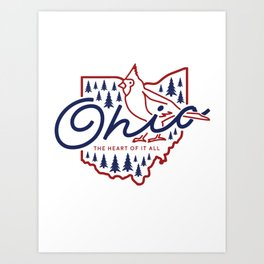 Ohio State Line Art Art Print