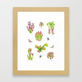 Carnivorous Plants Framed Art Print