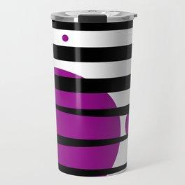 Pink purple stripes Travel Mug