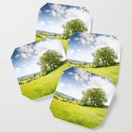 Idyllic Cotswold Summer Landscape Coaster