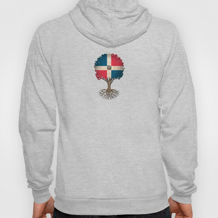 Vintage Tree of Life with Flag of Dominican Republic Hoody