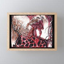 Lips So Cruel Framed Mini Art Print
