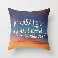 grateful dead Throw Pillows featuring grateful by Brittney Borowski