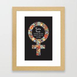 Fearless Female Black Framed Art Print