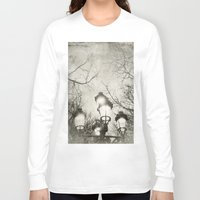 lantern Long Sleeve T-shirts featuring Vintage Lantern by Victoria Herrera