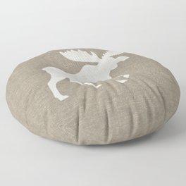 Moose Silhouette Floor Pillow