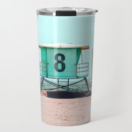 California Lifeguard Tower Travel Mug
