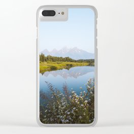 Grand Teton Reflection Clear iPhone Case