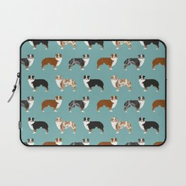 Australian Shepherd owners dog breed cute herding dogs aussie dogs animal pet portrait hearts Laptop Sleeve
