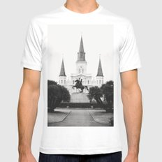 Heart and Soul of New Orleans Mens Fitted Tee MEDIUM White