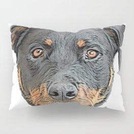 Rottweiler breed domestic dog Metzgerhund livestock butchered droving Pillow Sham