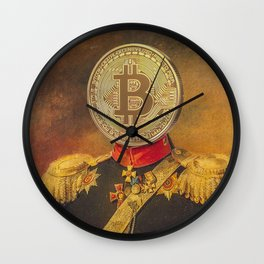 "Bit Coin Fanatic General | ""So Let Me Tell You About My Coin Base"" Wall Clock"