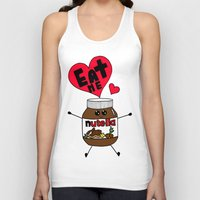 nutella Tank Tops featuring Nutella by Aurelie
