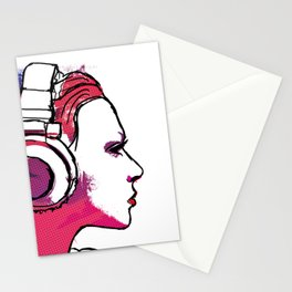 Into the music Stationery Cards