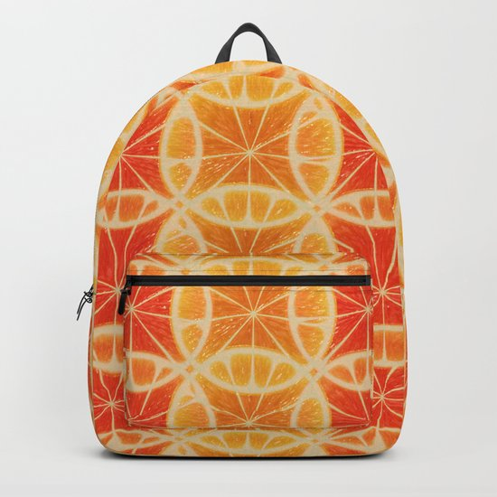 Orange Slice Pattern Backpack