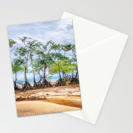 Trees in Line Stationery Cards