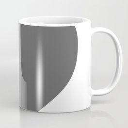Heart (Grey & White) Coffee Mug