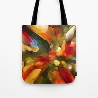 christmas tree Tote Bags featuring Christmas Tree by Paul Kimble