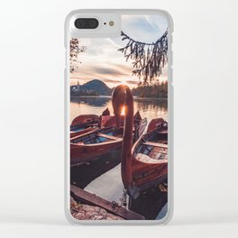 swan boat Clear iPhone Case
