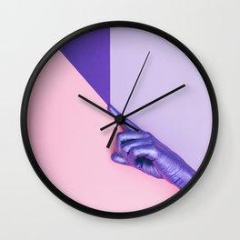 the purple hand Wall Clock