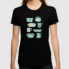 Vintage Kitchen Utensils / Teal T-shirt