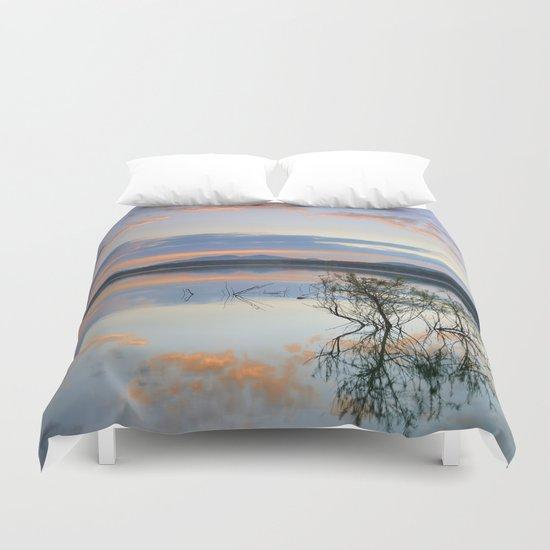 """Magic sky"". Sunset at the lake. Duvet Cover"