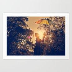 sunshine umbrella Art Print