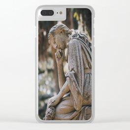 Bonaventure Cemetery - Statue of Eliza Wilhelmina Theus II Clear iPhone Case