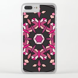 Moth's Crystal Snowflake - Red Version Clear iPhone Case