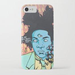 STUCK ON DREAMS (Basquiat) iPhone Case