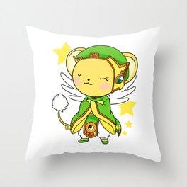 cardcaptor sakura kero shaoran Throw Pillow
