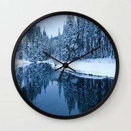 Fields of Winter Wall Clock