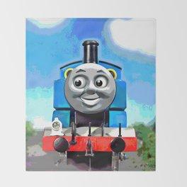 Thomas Has A Smile Throw Blanket